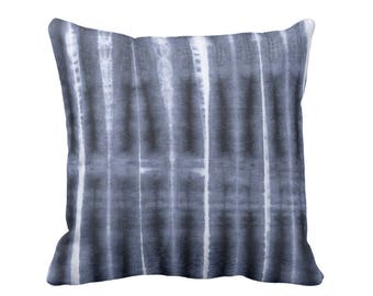 "Folded Lines Throw Pillow or Cover, Indigo/Navy 16, 18, 20 or 26"" Sq Pillows or Covers, Blue Boho/Mudcloth/Mud Cloth/Tribal Print"