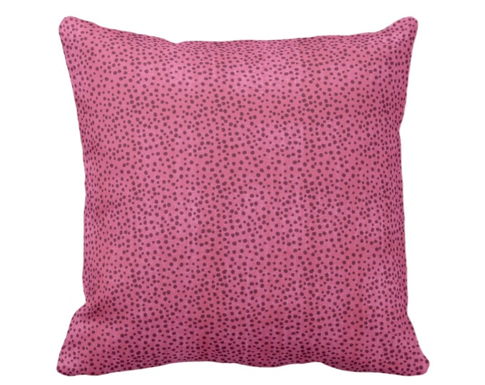 "Confetti Dots Throw Pillow or Cover, Magenta Print 16, 18, 20 or 26"" Sq Pillows or Covers Dark/Bright Pink Abstract/Modern/Allover/Dot/Spots"