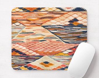 Southwest Rug Print Mouse Pad, Sunset Colors, South West/Desert Colors Mousepad, Native American
