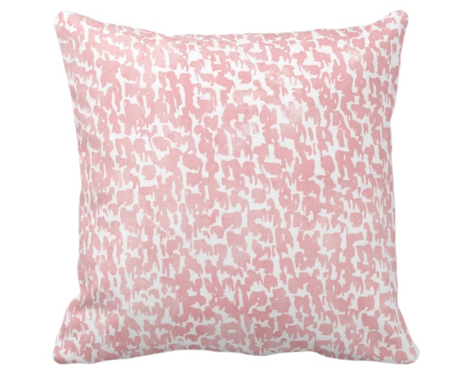"OUTDOOR Blossom Speckled Print Throw Pillow/Cover 14, 16, 18, 20, 26"" Sq Pillows/Covers, Pink Geometric/Abstract/Marbled/Spots/Dots Specks"