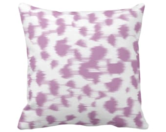 """Ikat Abstract Animal Print Throw Pillow/Cover 14, 16, 18, 20, 26"""" Sq Pillows/Covers, Light Purple/White Spots/Spotted/Dots/Dot/Geo/Painted"""