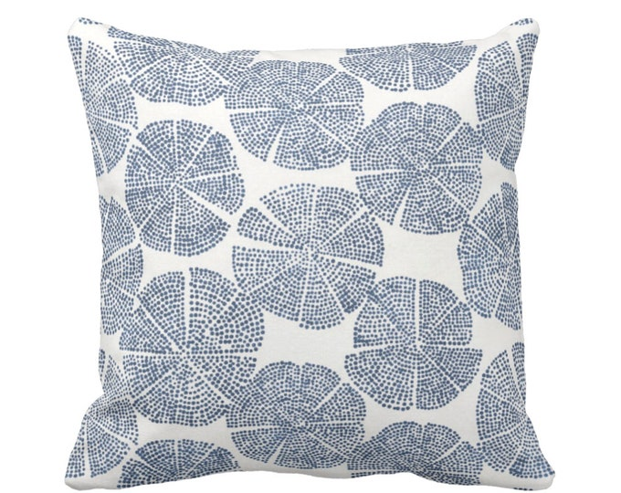 """OUTDOOR Block Print Throw Pillow or Cover, Navy/Off-White 14, 16, 18, 20 or 26"""" Sq Pillows/Covers Blue Blockprint/Batik/Boho/Geo Pattern"""