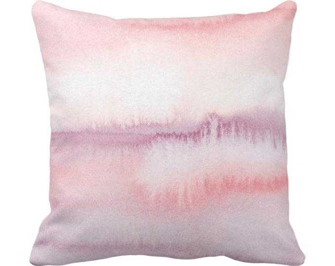"OUTDOOR Ombre Mauve Throw Pillow/Cover 14, 16, 18, 20, 26"" Sq Pillows/Covers Pink/Purple Geometric/Print/Design/Striped/Stripe/Geo/Lines"