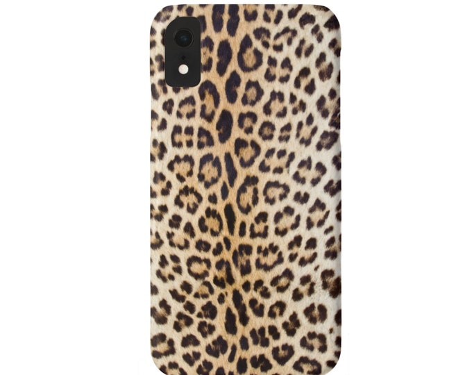 Leopard Print iPhone 11, XS, XR, X, 7/8, 6/6S P/Plus/Max Snap Case or TOUGH Protective Cover, Faux Animal Printed Cheetah/Ocelot, Camel