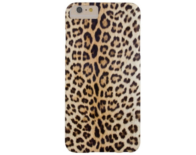 Leopard Print iPhone XS, Max, XR, X, 7/8, 7/8 P, 7, 6/6S or 6 Plus Snap Case or TOUGH Protective Cover, Faux Animal Printed Cheetah/Ocelot