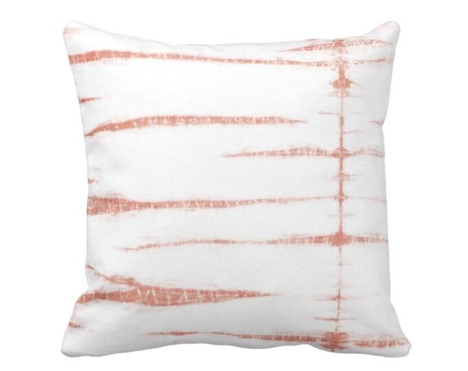 """Subtle Stripe Throw Pillow or Cover, Pink/White 16, 18, 20 or 26"""" Sq Pillows or Covers, Shibori/Lines/Striped Print, Dusty/Blush"""