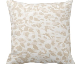 """Spots Print Throw Pillow or Cover, Sand 14, 16, 18, 20, 26"""" Sq Pillows/Covers Beige/Off-White Abstract Animal/Leopard/Spot/Pattern/Design"""