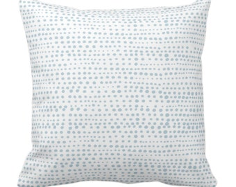 "OUTDOOR Dot Line Throw Pillow or Cover, Coastal Blue/White Print 14, 16, 18, 20, 26"" Sq Pillows/Covers Dots/Lines/Geometric/Modern/Farmhouse"