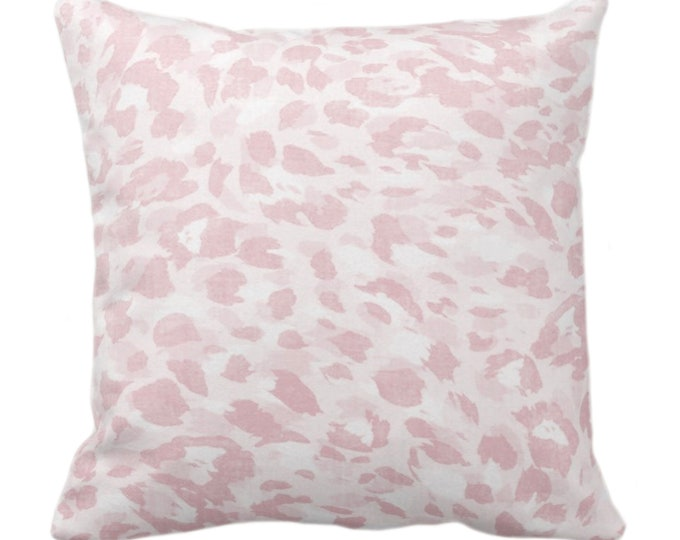 "Spots Print Throw Pillow or Cover, Adobe Rose 14, 16, 18, 20, 26"" Sq Pillows/Covers Light Pink Abstract Animal/Leopard/Spot/Pattern/Design"