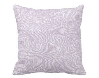 "OUTDOOR Sulcata Geo Throw Pillow or Cover, Dusty Purple & White 16, 18 or 20"" Sq Pillows/Covers, Abstract Geometric/Lines/Wavy Pattern"