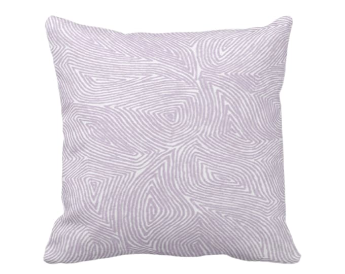 """OUTDOOR Sulcata Geo Throw Pillow or Cover, Dusty Purple & White 14, 16, 18, 20, 26"""" Sq Pillows/Covers, Abstract Modern Geometric/Lines Print"""
