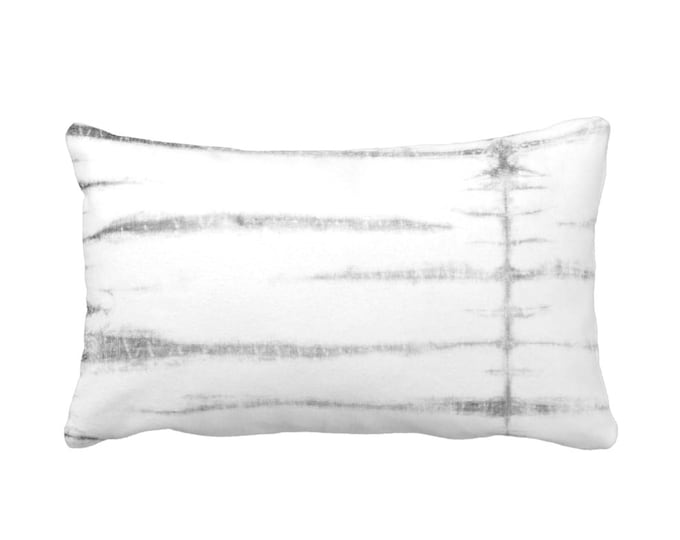 "Subtle Stripe Lumbar Throw Pillow or Cover, Gray/White 14 x 20"" Pillows or Covers, Striped/Stripes/Lines Print/Pattern, Grey"