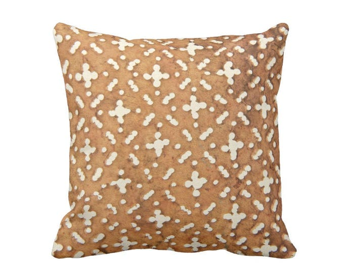 """OUTDOOR Mud Cloth Print Throw Pillow or Cover, Tan/Off-White 16, 18 or 20"""" Sq Pillows or Covers, Mudcloth/Geo/Boho/Tribal/Geometric"""