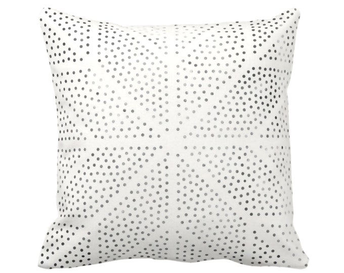 "OUTDOOR Batik Star Print Throw Pillow or Cover, Off-White/Gray/Black 16, 18, 20, 26"" Sq Pillows/Covers, Geometric/Geo/Boho/Tribal/Hmong/Hill"