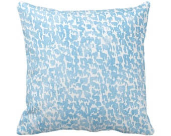 "OUTDOOR Sky Speckled Print Throw Pillow or Cover 14, 16, 18, 20 or 26"" Sq Pillows/Covers, Light Blue Geometric/Abstract/Marbled/Spots/Dots"