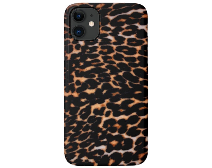 Dark Leopard iPhone 11, XS, XR, X, 7/8, 6/6S, 6 P/Pro/Plus/Max Snap Case or TOUGH Protective Cover, Animal/Cheetah Print/Pattern, Galaxy lg