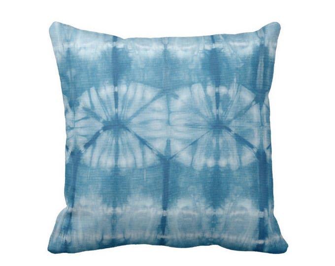 "Indigo Mud Cloth Print Throw Pillow or Cover 16, 18, 20, 26"" Sq Pillows or Covers, Bright Blue Mudcloth/Boho/Tribal/Geometric"
