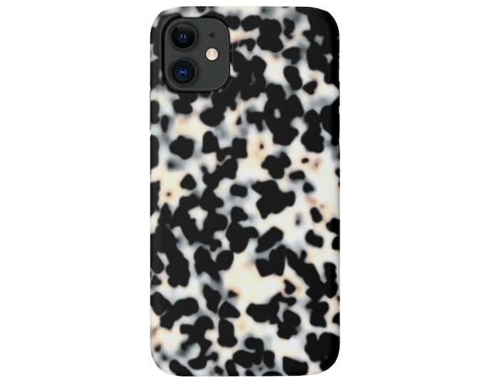 Tortoise Shell iPhone 11, XS, XR, X, 7/8, 6/6S, Max/Pro/P/Plus Snap or TOUGH Protective Cover, Bone/Off-White Printed Tortoiseshell, Galaxy