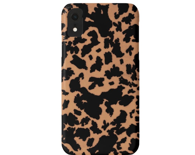 Camel Camo iPhone 11, XS, XR, X, 7/8, 6/6S Pro/Max/Plus/P Snap Case or TOUGH Protective Cover Beige/Black Camouflage/Tortoise Print/Design