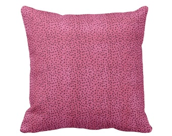 """OUTDOOR Confetti Dots Throw Pillow or Cover, Magenta Print 14, 16, 18, 20, 26"""" Sq Pillows/Covers, Dark Pink Modern/Abstract/Boho/Geo Print"""