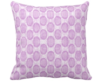 """Ikat Ovals Print Throw Pillow or Cover 14, 16, 18, 20, 26"""" Sq Pillows or Covers, Orchid Purple Geometric/Circles/Dots/Dot/Geo/Polka Pattern"""