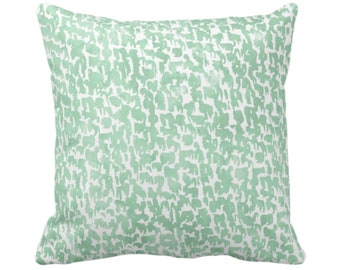 "OUTDOOR Celedon Speckled Throw Pillow or Cover 16, 18, 20 or 26"" Sq Pillows/Covers Mint Green Geometric/Abstract/Marbled/Confetti/Spots/Dots"