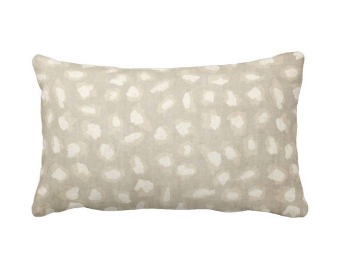 """Subtle Cat Spots Throw Pillow or Cover, Beige/Ivory 14 x 20"""" Lumbar Pillows or Covers, Cat/Leopard/Spot/Spotted Print/Pattern"""