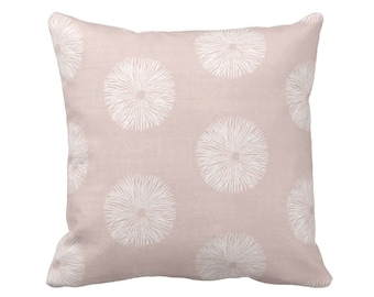 "READY 2 SHIP Sea Urchin Throw Pillow Cover, Blush/White 18"" Sq Pillow Covers, Light/Dusty Pink Modern/Abstract Print"