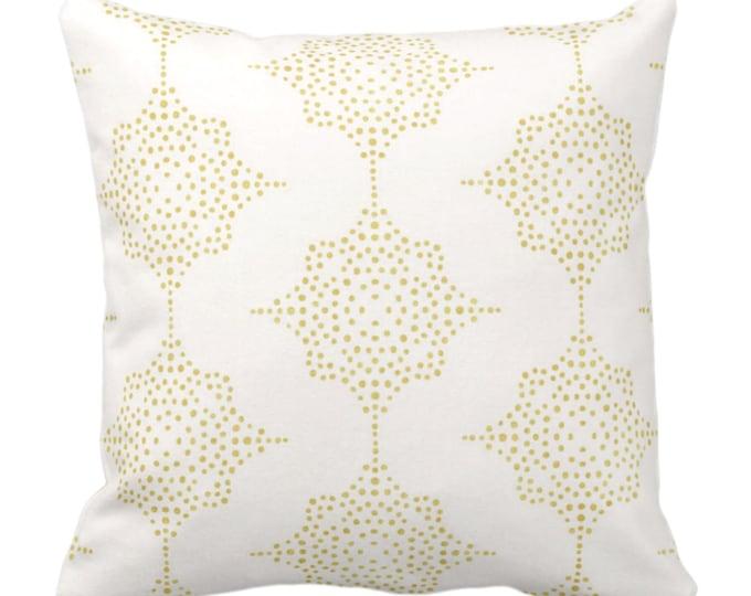 "Block Print Stars Throw Pillow or Cover, Mustard & Ivory 16, 18, 20, 26"" Sq Pillows, Covers, Golden Yellow Blockprint/Boho/Geometric Pattern"