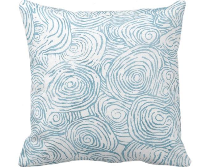 "Watercolor Faux Bois Throw Pillow or Cover, Dusty Aqua 14, 16, 18, 20, 26"" Sq Pillows/Covers Blue/Green Painted Modern/Geometric/Geo Print"