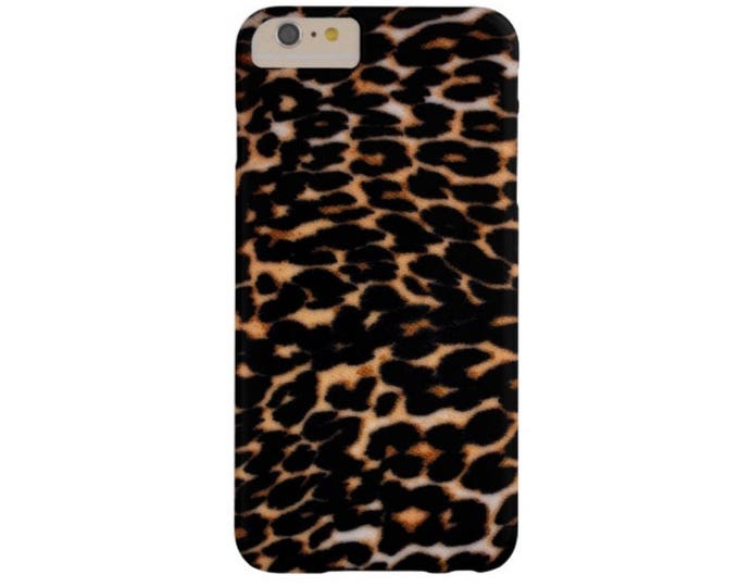 Leopard iPhone XS, Max, XR, X, 7/8, 7/8 P, 7, 6/6S or 6 Plus Snap Case or TOUGH Protective Cover, Dark Subtle Faux Animal Print, Cheetah