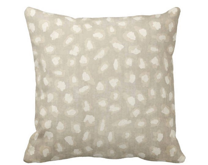 "Subtle Animal Spots Throw Pillow or Cover, Beige/Ivory 16, 18, 20 or 26"" Sq Pillows or Covers, Cat/Leopard/Spot/Print/Pattern"