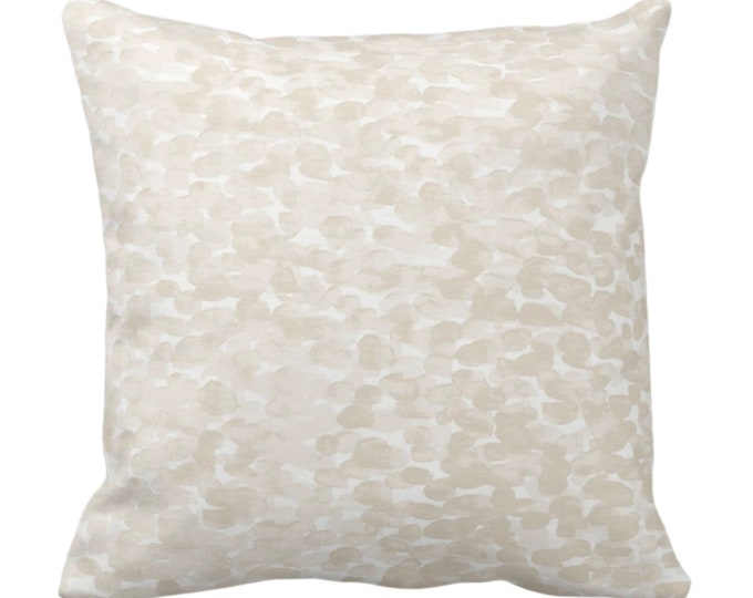 """Pebbled Watercolor Throw Pillow or Cover, Cream 14, 16, 18, 20, 26"""" Sq Pillows/Covers, Off-White Modern/Abstract/Minimal/Minimalist Print"""