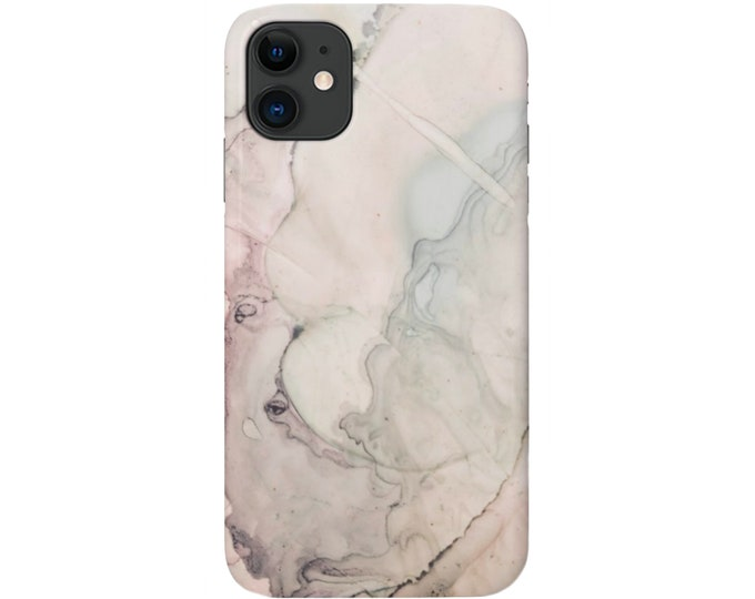 Abstract Watercolor iPhone 12, 11, XS, XR, X, 7/8, 6/6S Pro/Max/P/Plus Snap Case or TOUGH Protective Cover Beige/Pink/Green Marble/Modern