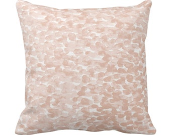 """OUTDOOR Pebbled Watercolor Throw Pillow or Cover, Shell 14, 16, 18, 20, 26"""" Sq Pillows/Covers, Blush/Peach Modern/Abstract/Minimal Print"""