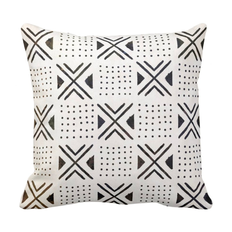 Mud Cloth Print Throw Pillow Or Cover X S Dots Etsy