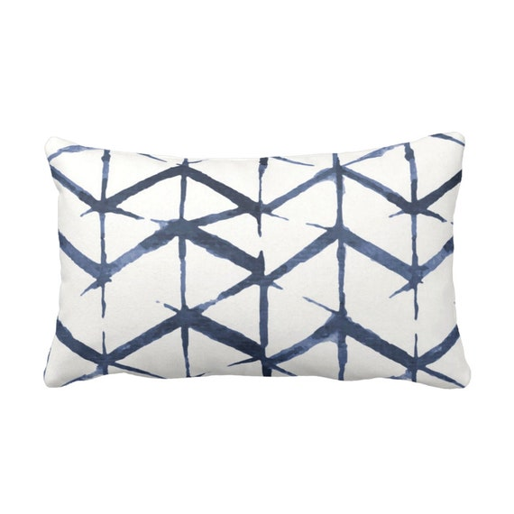 Color Blocked Chevron Throw Pillow by