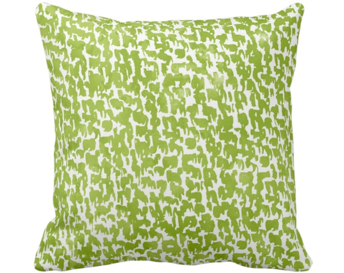"""OUTDOOR - READY 2 SHIP - Wasabi Speckled Throw Pillow/Cover 18"""" Sq Pillows/Covers Green/White Geometric/Abstract/Confetti/Spots/Dots/Specks"""
