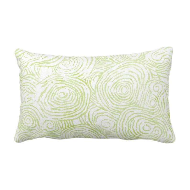 OUTDOOR READY 2 SHIP Watercolor Faux Bois Throw Pillow Cover Wasabi 14 x 20 Lumbar Covers Green Painted ModernGeo Print