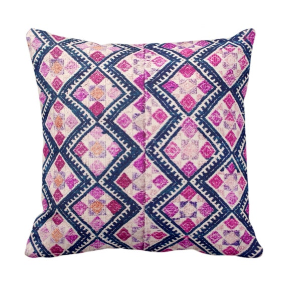 OUTDOOR Chinese Wedding Blanket PRINTED Throw Pillow or Cover Vintage Embroidery Print Navy /& Light Pink 14 x 20 Lumbar Pillows or Covers
