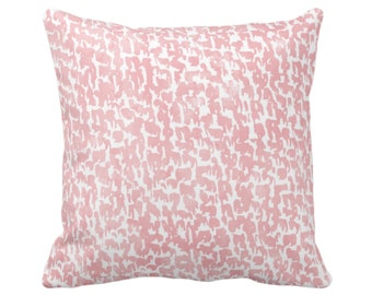 """OUTDOOR Blossom Speckled Print Throw Pillow/Cover 14, 16, 18, 20, 26"""" Sq Pillows/Covers, Pink Geometric/Abstract/Marbled/Spots/Dots Specks"""