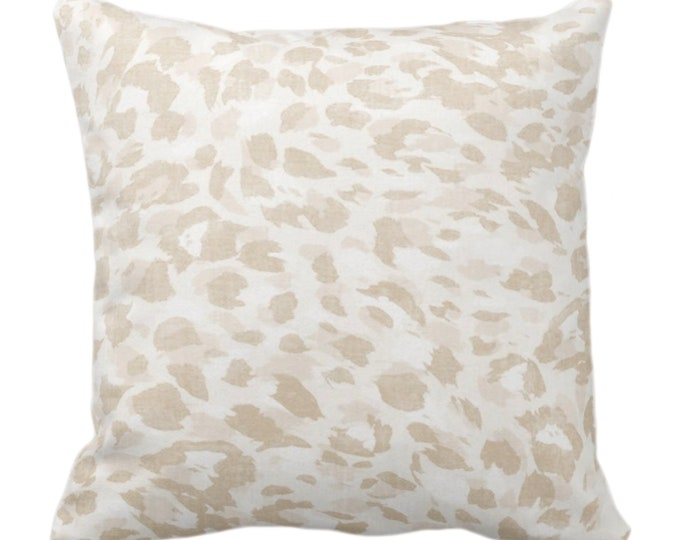 """OUTDOOR Spots Print Throw Pillow or Cover, Sand 14, 16, 18, 20, 26"""" Sq Pillows/Covers Beige/Off-White Abstract Animal/Leopard/Pattern/Design"""