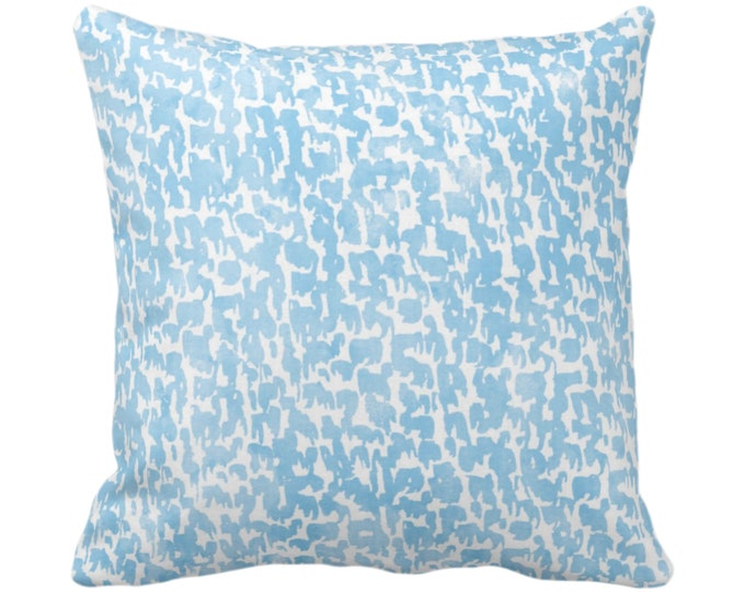 """OUTDOOR Sky Speckled Print Throw Pillow or Cover 14, 16, 18, 20 or 26"""" Sq Pillows/Covers, Light Blue Geometric/Abstract/Marbled/Spots/Dots"""