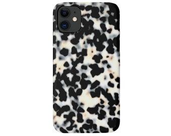 Tortoise Shell iPhone 12, 11, XS, XR, X, 7/8 Mini/Max/Pro/P/Plus Snap or TOUGH Protective Cover, Bone/Off-White Printed Tortoiseshell Galaxy