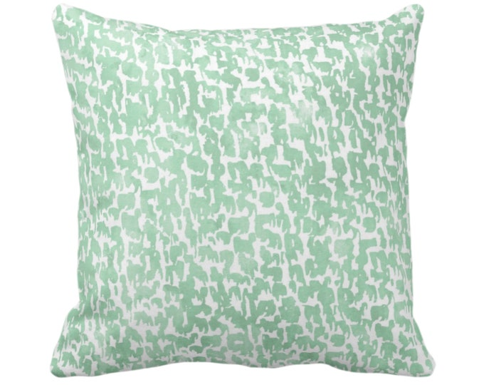 """OUTDOOR Celadon Speckled Throw Pillow/Cover 14, 16, 18, 20, 26"""" Sq Pillows/Covers Aloe Green Geometric/Abstract/Marbled/Confetti/Splatter"""