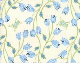 Moda BLOOMSBURY by Franny and Jane-floral pond in natural-(47511 11)-by the YARD