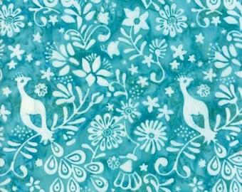 Moda LONGITUDE BATIKS by Kate Spain-turquoise (27259 75)-by the YARD