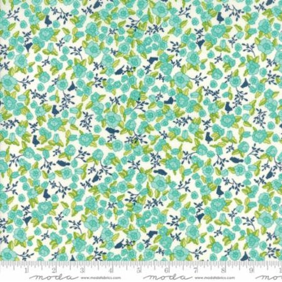 Moda TUPPENCE 45511 13 Navy Blue Floral Shannon Orr QUILT FABRIC