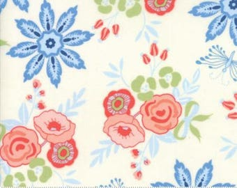 Moda BLOOMSBURY by Franny and Jane-floral garden blooms natural-(47510 11)-by the YARD