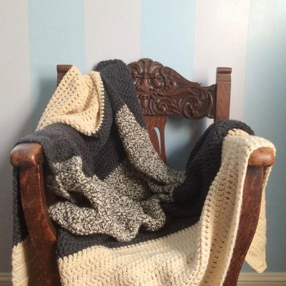 Xl Chunky Wool Throw Crochet Blanket Chunky Knit Blanket Etsy